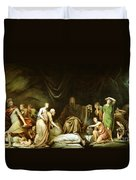 The Court Of Death Duvet Cover by Rembrandt Peale