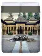 The Court Of The Lions Alhambra Spain Duvet Cover