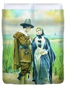 The Courtship Of Miles Standish Duvet Cover
