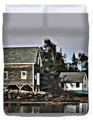The Cove At Dusk Duvet Cover