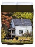 The Cows Came Home Duvet Cover