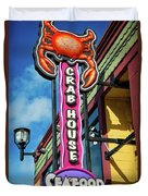 The Crab House Seafood Grill Duvet Cover