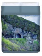 The Craggy Pinnacle Tunnel On The Blue Ridge Parkway In North Ca Duvet Cover