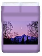 The Crescent Moon In Lavender Duvet Cover