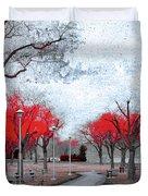The Crimson Trees Duvet Cover
