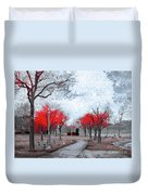 The Crimson Trees Duvet Cover