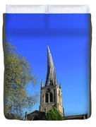 The Crooked Spire Of St Mary And All Saints Church, Chesterfield Duvet Cover