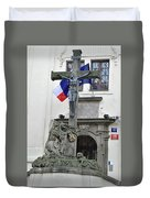 The Cross And Flags Duvet Cover
