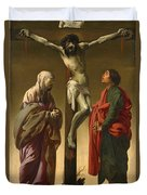 The Crucifixion With The Virgin And Saint John Duvet Cover