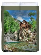 The Crystal Mill In Crystal Colorado Duvet Cover