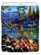The Crystal Waters Of Lake Tahoe Duvet Cover