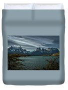 The Cuernos And Lake Pehoe #3 - Chile Duvet Cover