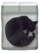 The Curled Black Cat Duvet Cover