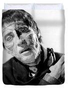 The Curse Of Frankenstein Christopher Lee 1957 Duvet Cover
