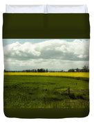 The Curve Of A Mustard Crop Duvet Cover