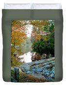 The Dam At Peaks Of Otter Duvet Cover