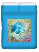 The Dance Of The Blue Heron Duvet Cover