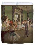 The Dancing Class Duvet Cover by Edgar Degas