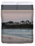 The Day Is Done At Long Sands Beach Duvet Cover