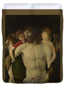 The Dead Christ Supported By Angels Duvet Cover