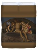 The Dead Christ With Angels Duvet Cover