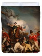 The Death Of General Mercer At The Bottle Of Princeton Duvet Cover