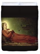 The Death Of Germaine Cousin The Virgin Of Pibrac Duvet Cover by Alexandre Grellet