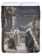 The Death Of Jesus Duvet Cover