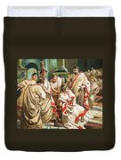 The Death Of Julius Caesar  Duvet Cover