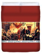 The Declaration Of Independence  Duvet Cover by Lanjee Chee