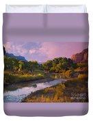 The Delores River At Gate Way Colorado Duvet Cover