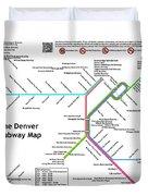 The Denver Pubway Map Duvet Cover