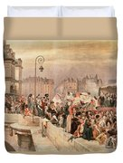 The Departure Of The Volunteers 1792 Duvet Cover