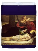 The Descent Of Christ From The Cross  Duvet Cover by Jean Joseph Weerts