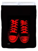 The Devil Wears Converse Duvet Cover by Ed Smith
