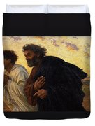 The Disciples Peter And John Running To The Sepulchre On The Morning Of The Resurrection Duvet Cover