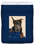 The Doberman Duvet Cover