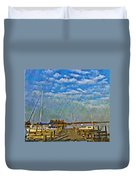 The Dock Of The Bay Duvet Cover