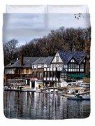 The Docks At Boathouse Row - Philadelphia Duvet Cover