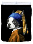 The Dog With A Pearl Earring Duvet Cover