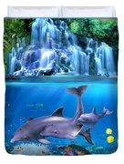 The Dolphin Family Duvet Cover