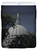 The Dome Of The Capitol Building Duvet Cover