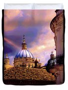 The Domes Of Immaculate Conception, Cuenca, Ecuador Duvet Cover