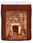 The Door Of Humility At The Church Of The Nativity Bethlehem Duvet Cover