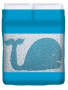 The Dotted Whale Duvet Cover by Deborah Boyd