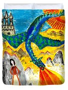 The Dragon Duvet Cover by Sushila Burgess