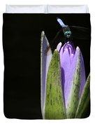 The Dragonfly And The Water Lily  Duvet Cover