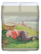 The Drummer Boy's Dream Duvet Cover by Frederic James Shields