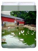 The Duck Pond Duvet Cover