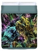 The Duel Of The Dragons  Duvet Cover